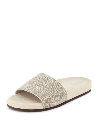 Monili One-Band Sandal Slide, Graphite
