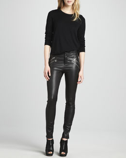 J Brand Ready to Wear Theodate Sweater & Claudette Leather Pants