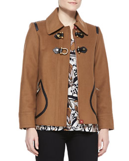 MARC by Marc Jacobs Francoise Toggle-Front Felt Jacket & Nightingale-Print Short-Sleeve Tee