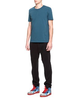 Maison Martin Margiela Short-Sleeve Crewneck Tee & Jersey Button-Front Sweatpants