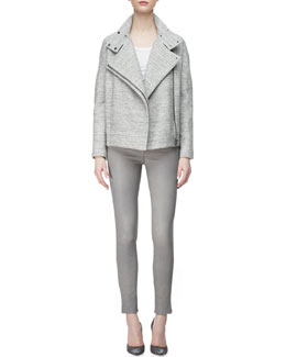 J Brand Ready to Wear Pallenberg Knit Moto Jacket, Nikki Tank Top & L8001 Leather Leggings