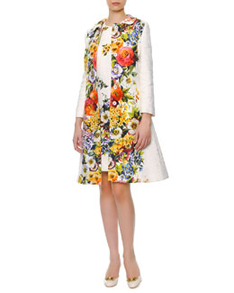 Dolce & Gabbana Engineered Floral-Print Long Coat & A-Line Shift Dress