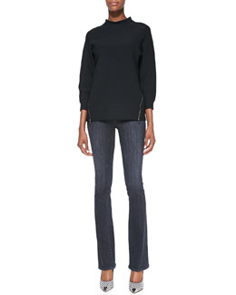 J Brand Ready to Wear Kerry Zip-Hem Knit Top & Remy Boot-Cut Stretch Jeans