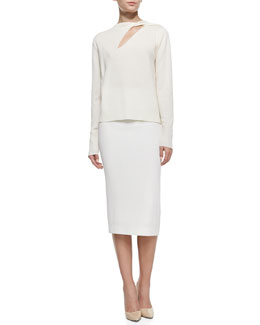 A.L.C. Robinson Pullover Wool Sweater & Jamie Knee-Length Pencil Skirt