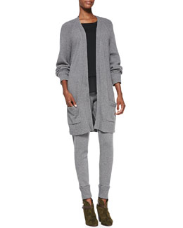 Rag & Bone Charlize Oversize Knit Cardigan, Eden Long-Sleeve Layered Tee & Charlize Sweater-Knit Cuffed Leggings