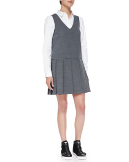 MARC by Marc Jacobs Sixties Suiting Jumper Dress & Miki Oxford/Knit Combo Blouse