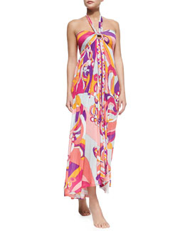 Emilio Pucci Printed Triangle String Bikini & Printed Convertible Maxi Dress/Skirt
