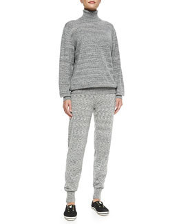 Theory Cashmere Pristelle Space-Dye Sweater & Hillard Space-Dye Pants