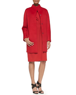 Elie Tahari Dalia Double-Face Wool Coat & Augustine Double-Face Dress
