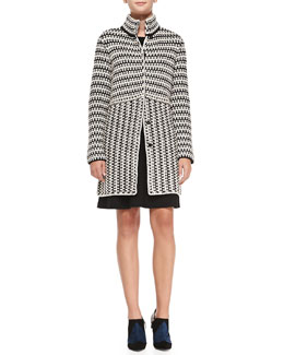 Tory Burch Maxeen Knit Sweater Coat & Beasley Knit Sleeveless Dress
