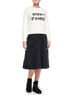 MARC by Marc Jacobs Don't Panic! Crewneck Sweater & Tea-Length Cargo Skirt