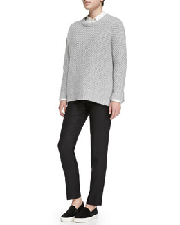 MARC by Marc Jacobs Nora Merino Crewneck Sweater, Lyra Poplin Blouse & Nora Merino Crewneck Sweater