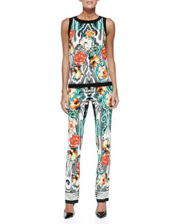 Etro Dhely Rose-Print Top & Pants