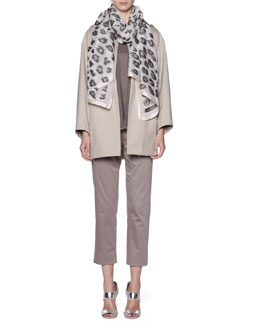 Giorgio Armani Storm System Hooded Topper Coat, Oversized Short-Sleeve Knit Tunic & Cropped Pants
