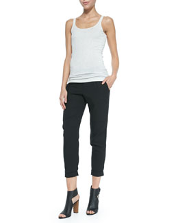 Vince Favorite Pima-Modal Tank Top & Twill Cuffed Relaxed Pants