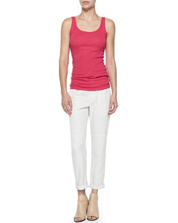 Vince Lightweight Knit Favorite Tank & Cuffed Twill Cargo Pants