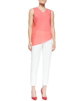 Elie Tahari Savannah Silk Crepe Blouse & Marcia Straight-Leg Pants