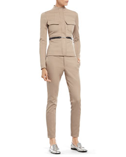 Gucci Stone Cotton Stretch Scuba Jacket & Skinny Pant