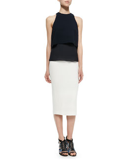 A.L.C. Morrison Sleeveless Popover Top & Jamie Knee-Length Pencil Skirt