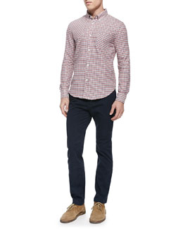 Band of Outsiders Check Patch Woven Shirt & Slim-Fit Chino Pants