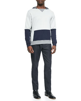 Maison Martin Margiela Colorblock Side-Zip Hoodie & Slim-Fit Woven Trousers