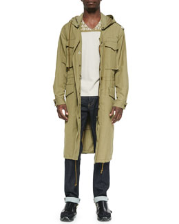 Maison Martin Margiela Hooded Long Anorak Jacket & AIDS Awareness Short-Sleeve Tee