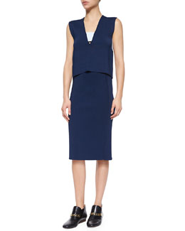 Derek Lam 10 Crosby Sleeveless Banded Cutout Top & Knee-Length Pencil Skirt