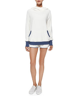 MARC by Marc Jacobs Jodie Velour Hooded Pullover & Sadie Terry Knit Track Shorts