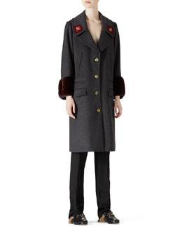 Gucci Wool & Mink Overcoat & Wool Menswear Pant