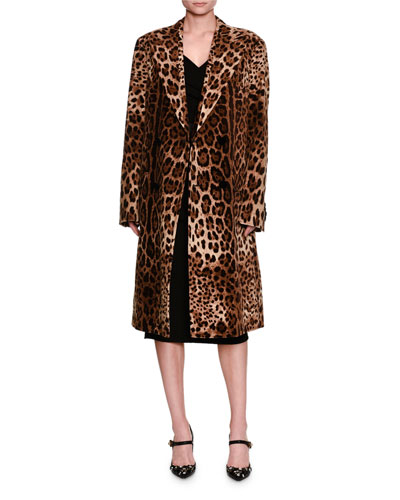 Leopard-Print Velvet Coat and Matching Items