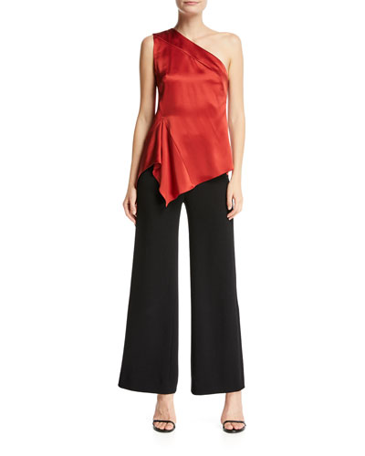 Crepe Wide-Leg Pants  and Matching Items