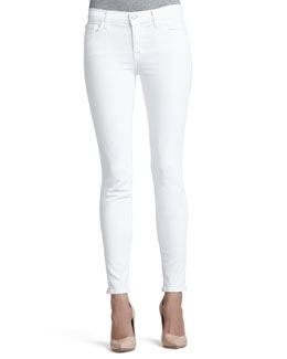 J Brand Jeans 811 Blanc Mid-Rise Skinny Jeans