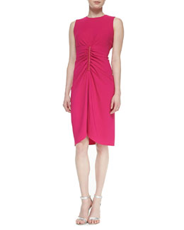 Reed Krakoff Sleeveless Ruched-Front Dress