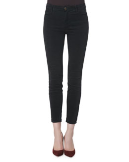 J Brand Jeans Alana Darkest Gray High-Rise Cropped Jeans