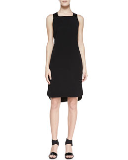 J Brand Ready to Wear Antonina Racerback High-Low Dress, Black