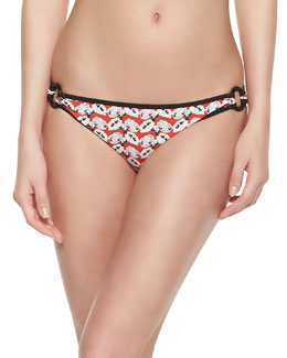 Tory Burch Calyx Floral-Print Ring-Side Bottom