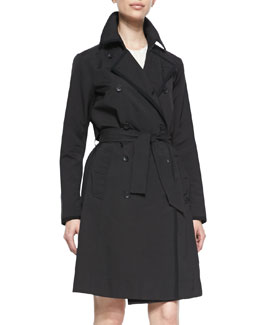 Rag & Bone Edie Double-Breasted Button-Front Trenchcoat