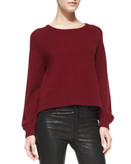 J Brand Ready to Wear Dauphine Arch-Hem Knit Sweater