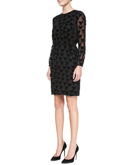 Band of Outsiders Long-Sleeve Easy Butterfly Dress