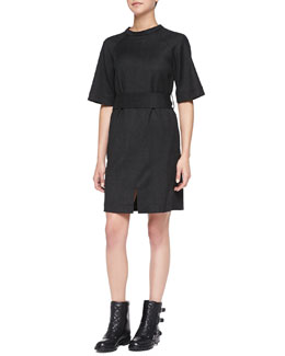 MARC by Marc Jacobs Junko Lightweight Wool Belted Dress