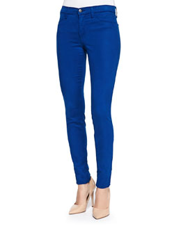 J Brand Jeans Mid-Rise Sateen Skinny Pants