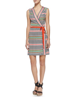 Missoni Copricost Printed/Striped Wrap Dress