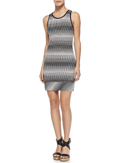 Missoni Copricost Zigzag Knit Fitted Dress
