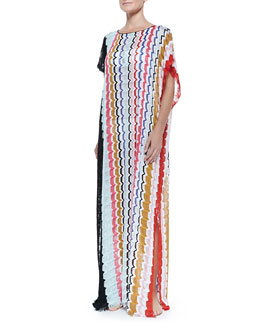 Missoni Zigzag-Pattern Full-Length Coverup