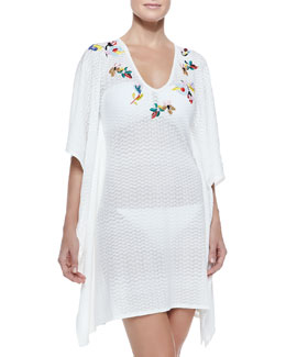 Missoni Zigzag-Pattern Embroidered Coverup