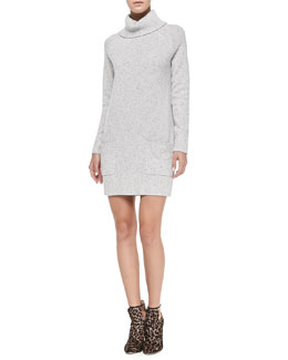Milly Heathered Pocket Sweater Dress