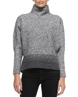 Elie Tahari Mabelle Wool-Blend Turtleneck Sweater