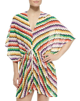 Missoni Honeycomb Zigzag-Knit Caftan