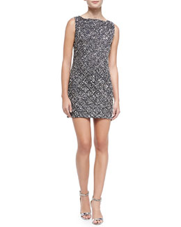Alice + Olivia McKee Embellished Fitted Dress
