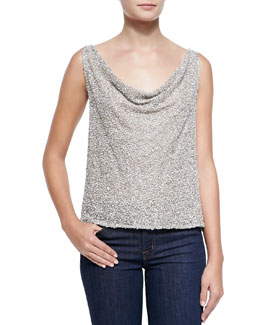 Alice + Olivia Viola Open-Back Sequined Top